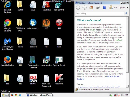 Windows Vista безопасный режим