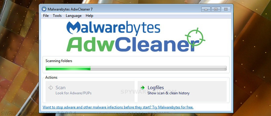 AdwCleaner find adware that cause popups