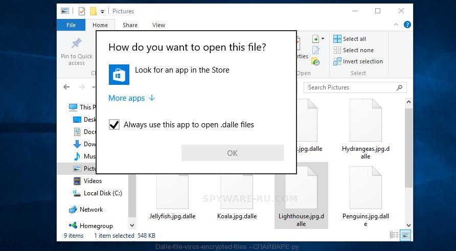 Dalle file virus - encrypted files
