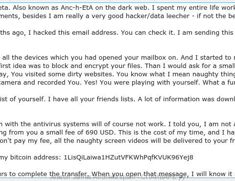 Jeason James Ancheta spam