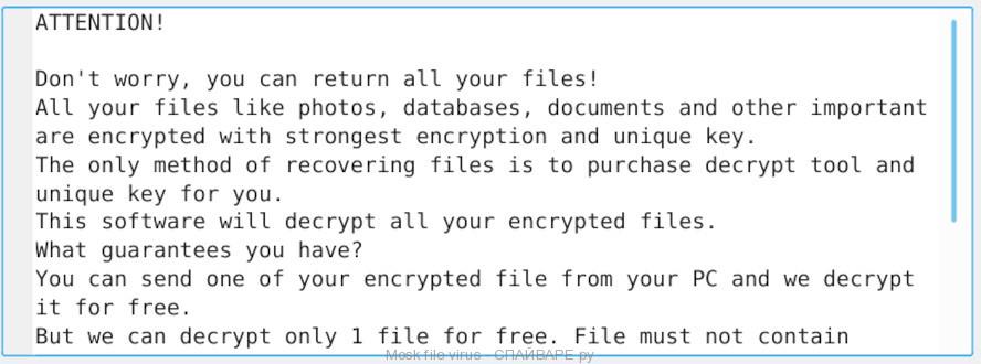 Mosk file virus