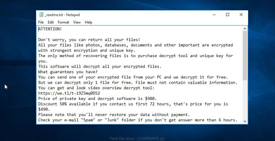Peet file virus