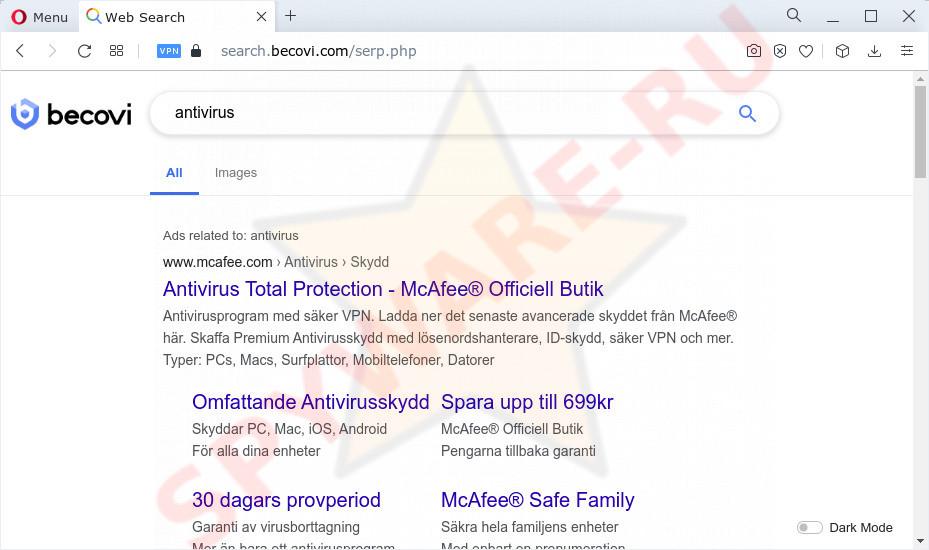 Search.becovi.com results